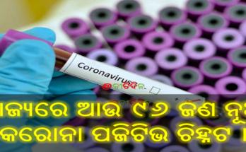 ରାଜ୍ୟରେ ଆଉ ୯୬ ଜଣ ନୂଆ କରୋନା ପଜିଟିଭ ଚିହ୍ନଟ ।, New 96 corona positive case found in odisha today, Nitidina, Odisha, Stay home Stay safe, Corona, Covid-19, News