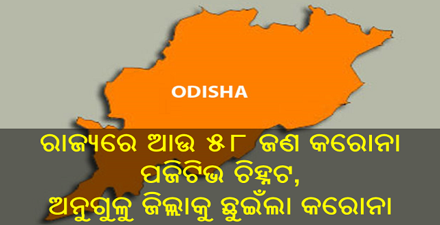 ରାଜ୍ୟରେ ଆଉ ୫୮ ଜଣ କରୋନା ପଜିଟିଭ ଚିହ୍ନଟ ଅନୁଗୁଳୁ ଜିଲ୍ଲା ଛୁଇଁଲା କରୋନା, Nitidina, Odisha, News, Real Story, Health Tips, Life style, Daily Living, Tips, Job Updates, Yoga, Meditation, Stay Healthy, Lockdown may extend after 3 may, lockdown extend, new 58 corona positive case in odisha