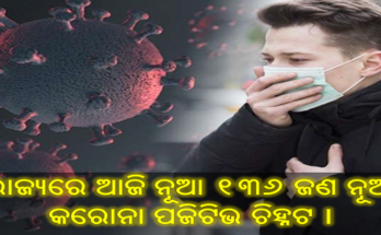 ରାଜ୍ୟରେ ଆଜି ନୂଆ ୧୩୬ ଜଣ ନୂଆ କରୋନା ପଜିଟିଭ ଚିହ୍ନଟ, 136 corona recovered, Nitidina, Odisha, News, Real Story, Health Tips, Life style, Daily Living, Tips, Job Updates, Yoga, Meditation, Stay Healthy, Save Tree, Save Life, Extended Lockdown