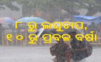 ୮ରୁ ଲଘୁଚାପ, ୧୦ରୁ ପ୍ରବଳ ବର୍ଷା, Nitidina, Odisha, News, Real Story, Health Tips, Life style, Daily Living, Tips, Job Updates, Yoga, Meditation, Stay Healthy, Save Tree, Save Life, Extended Lockdown, heavy rain in Odisha