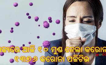 ରାଜ୍ୟରେ ଆଜି ୧୩୭୬ ନୂଆ କରୋନା ପଜିଟିଭ ଓ ଆଜି ପୁଣି ୧୦ ମୁଣ୍ଡ ନେଲା କରୋନା, Corona Virus Odisha new 1376 tested corona positive and 10 death,