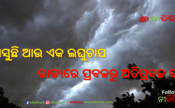heavy rain in odisha low pressure will create in Bay of Bengal, ଆସୁଛି ଆଉ ଏକ ଲଘୁଚାପ, ରାଜ୍ୟରେ ପ୍ରବଳରୁ ଅତିପ୍ରବଳ ବର୍ଷା, Heavy Rainfall in Odisha, Odisha, Rain, Nitidina