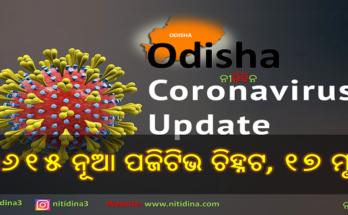 Corona Update Odisha new 3615 tested corona positive and 17 deaths, ରାଜ୍ୟରେ ଆଜି ୩୬୧୫ ନୂଆ କରୋନା ପଜିଟିଭ ଚିହ୍ନଟ ଓ ୧୭ ମୁଣ୍ଡ ନେଲା କରୋନା । ଜାଣନ୍ତୁ କେଉଁ ଜିଲ୍ଲାରୁ କେତେ, Corona Update, Coronavirus, Covid-19, Nitidina, Odisha