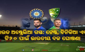 India tour of Australia: India Teams announced Rohit Sharma injured not named in the squad, Rohit Sharma, Virat Kohli , Indian Cricket, Cricket, Nitidina