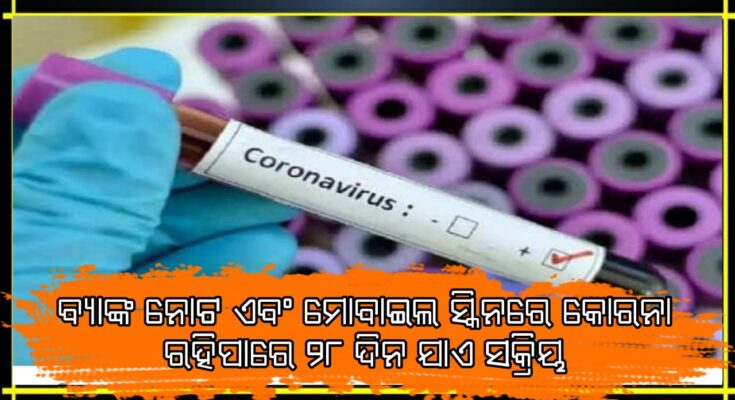 Big news: coronavirus can survive on phone screen bank notes for 28 days scientists claim, Coronavirus, Corona News, Mobile Phone, Nitidina