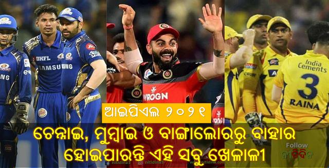 IPL 2021 Which players will be released by Mumbai Indians Royal Challengers Bangalore and Chennai Super Kings, IPL 2021, Cricket, MS Dhoni, Virat Kohli, Rohit Sharma, Cricket, Nitidina