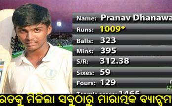Cricket Pranav dhanawades 323 ball scored 1009 run innings created world record