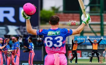 IPL 2021 Rajasthan Royal beat Sunrisers Hyderabad Jose Butler hit stormy century